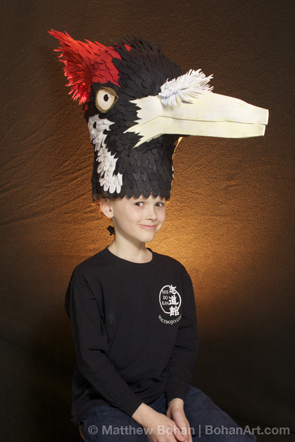 Ivory-billed Woodpecker Hat (Sheet Craft Foam and Acrylic Paint)
