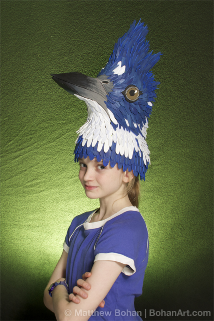 Belted Kingfisher Hat (Sheet Craft Foam and Acrylic Paint)