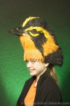 Blackburnian Warbler Hat (Sheet Craft Foam and Acrylic Paint)