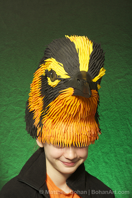 Blackburnian Warbler Hat (Sheet Craft Foam and Acrylic Paint)