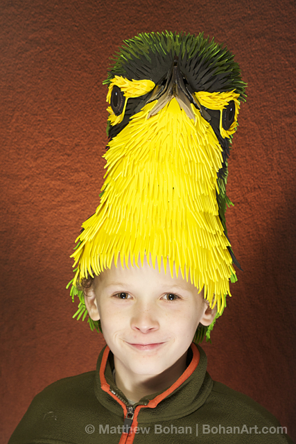 Kentucky Warbler Hat (Sheet Craft Foam and Acrylic Paint)