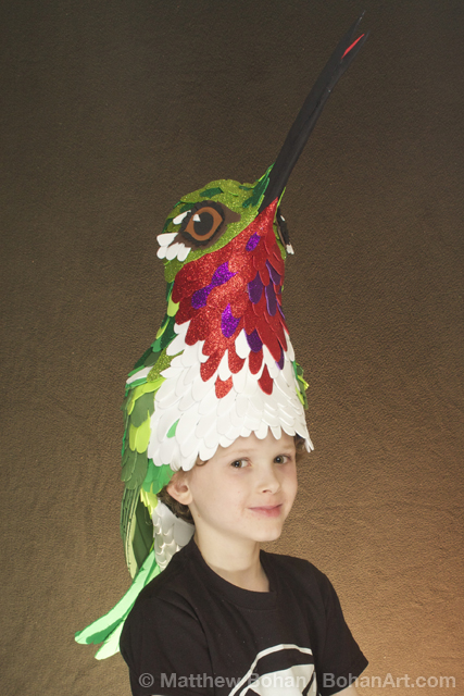 Ruby-throated Hummingbird Hat (Sheet Craft Foam)