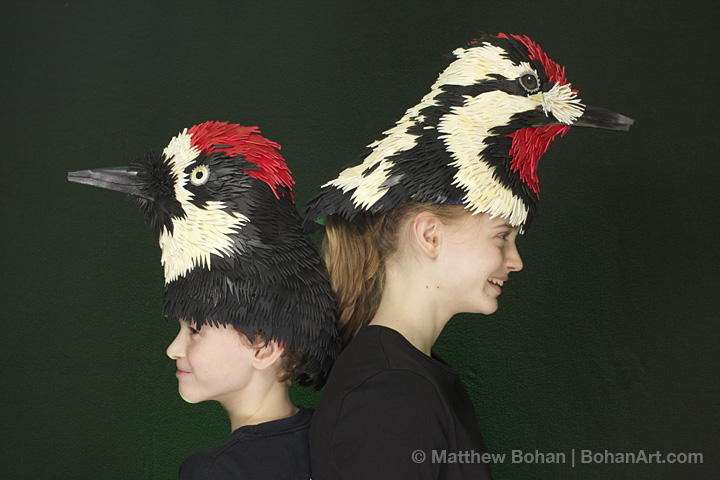 Acorn Woodpecker and Yellow-bellied Sapsucker Hats