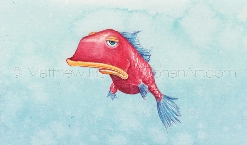 Glum Chum (3.5x5.75 inch Transparent Watercolor)