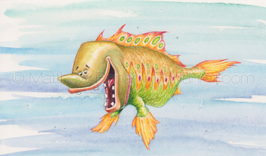 Picklefish (3.5x5.75 inch Transparent Watercolor)